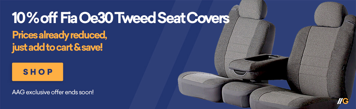10% Off on Select Fia Seat Covers!