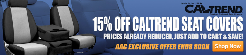 15% Off CalTrend Seat Covers