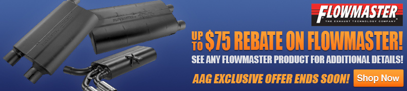 Up to $75 Rebate on Flowmaster Exhaust!