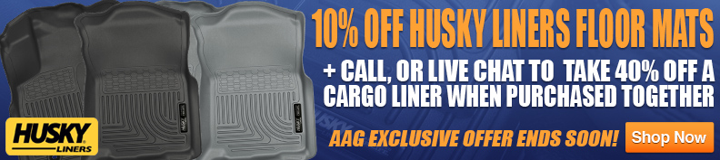 Save 10% on Husky Liners floor mats + additional 40% for cargo mats!