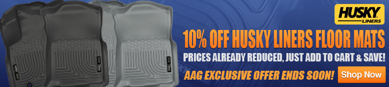 Save 10% on Husky Liners floor mats!