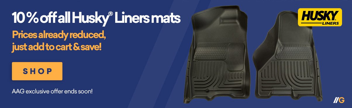 10% Off All Husky Liners Floor Mats