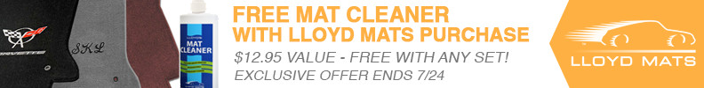 Free mat cleaner with purhcase of Lloyd Mats