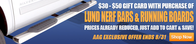 $30-50 Gift Card with puchase of Lund running boards