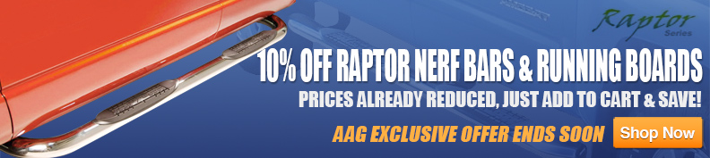 10% Off Raptor Running Boards