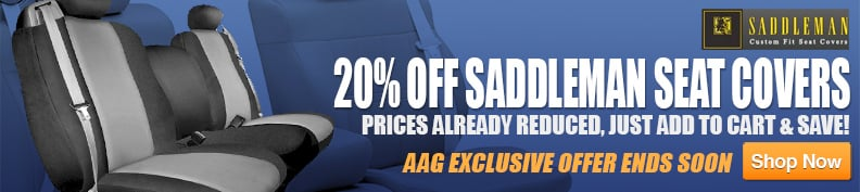 20% Off Saddleman Seat Covers