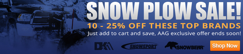 10 - 15% Off Selected Snow Plows!
