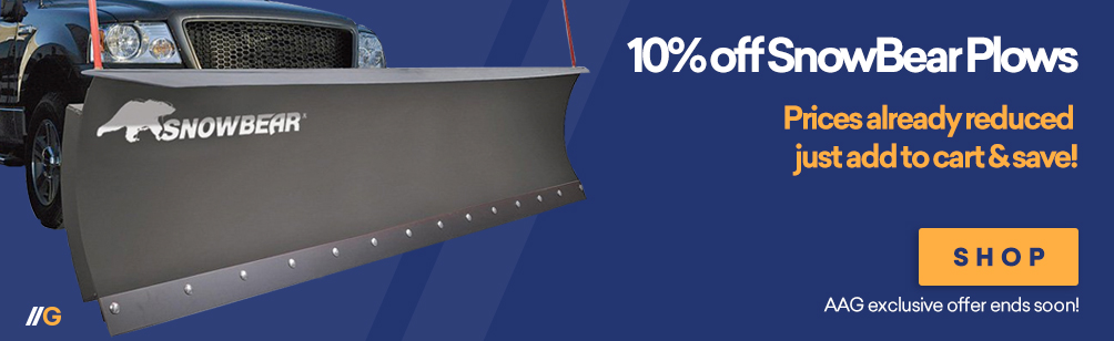 10% Off SnowBear Snow Plows!