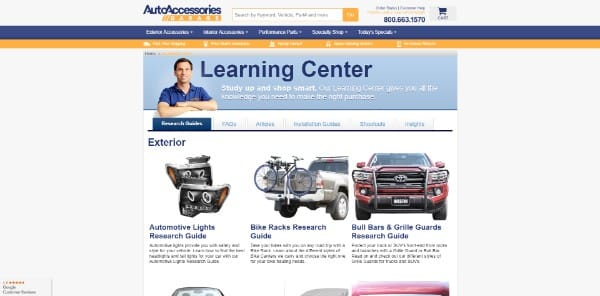auto accessories garage learning center