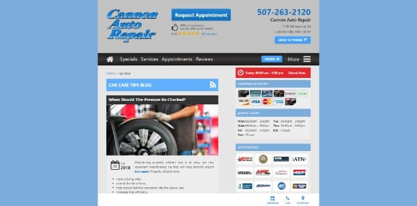 Cannon Auto Repair Blog