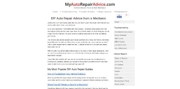 My Auto Repair Advice