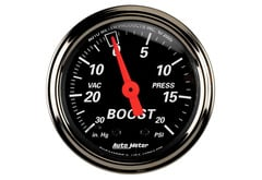 Honda Civic del Sol Autometer Designer Black Series Gauge