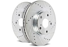 Lincoln Zephyr Power Stop Cross Drilled and Slotted Rotors