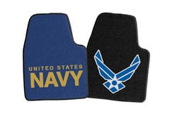 Dodge Dart Fanmats Military Logo Carpet Floor Mats