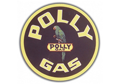 Polly Gas Vintage Sign by SignPast