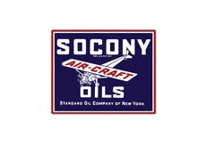 Socony Aircraft Oil Vintage Sign by SignPast