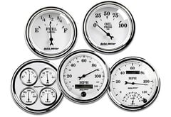 Honda S2000 AutoMeter Street Rod Old Tyme White II Series Gauges