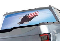 Chevrolet Silverado Window Canvas Patriotic Window Graphic