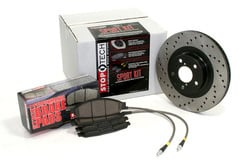 Volkswagen Rabbit StopTech Brake Kit with Drilled Rotors