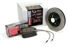 Audi A4 StopTech Brake Kit with Power Slot Rotors