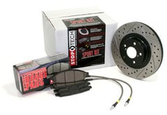 Audi A4 Quattro StopTech Brake Kit with Drilled & Slotted Rotors