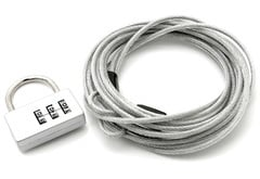Checker Coverking Lock and Cable