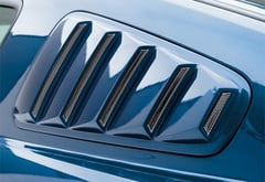 Ford Mustang 3D Carbon Window Louvers