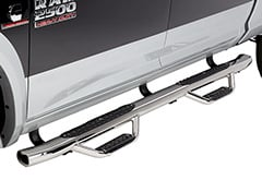 Ford F350 Go Rhino Dominator D4 Dual Step Nerf Bars