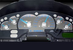 Ford Mustang US Speedo Stainless Steel Gauge Face Kit