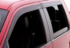 Ford F250 AVS Matte Black Seamless Window Deflectors
