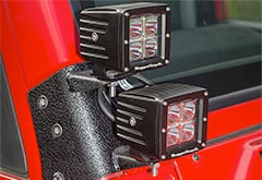 Rugged Ridge Dual A-Pillar Light Kit
