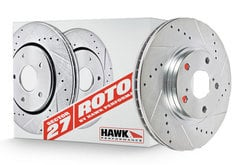 Lexus GS350 Hawk Sector 27 Drilled and Slotted Rotors