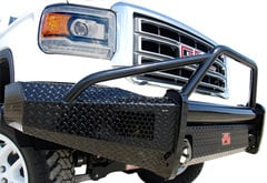 Ford F450 Fab Fours Black Steel Pre-Runner Front Bumper