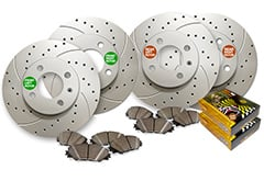 Hyundai Elantra Maxim Drilled & Slotted Geomet Coated Ceramic Brake Kit