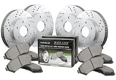 Lincoln Navigator Maxim Drilled & Slotted Geomet Coated Metallic Brake Kit