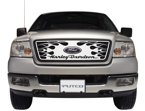Putco Harley Davidson Flaming Inferno Grille with Harley Script