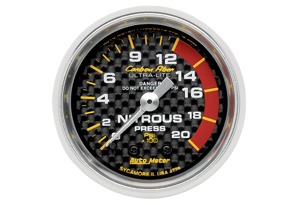 Autometer Carbon Fiber Series Gauge