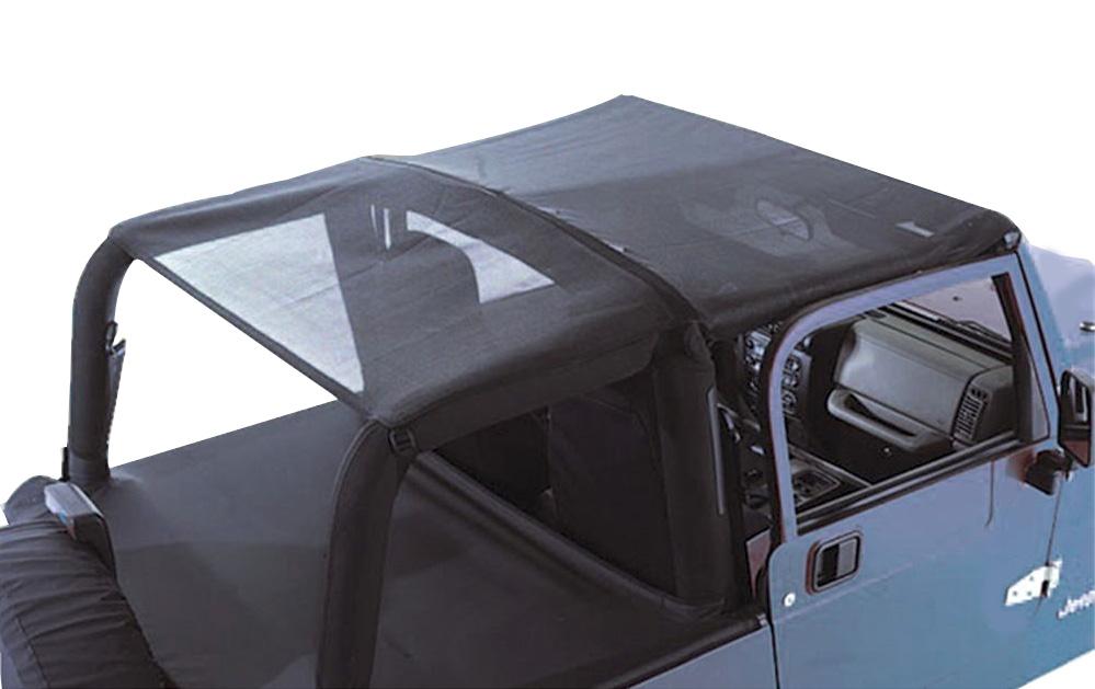 1992 1995 jeep wrangler rugged ridge mesh roll bar top - Jeep cherokee exterior roll cage ...