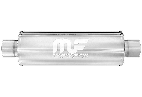 "MAGNAFLOW 12198 5/"" x 8/"" UNIVERSAL Oval SS Muffler Satin Finish 3/"" In//2.5/"" Out"