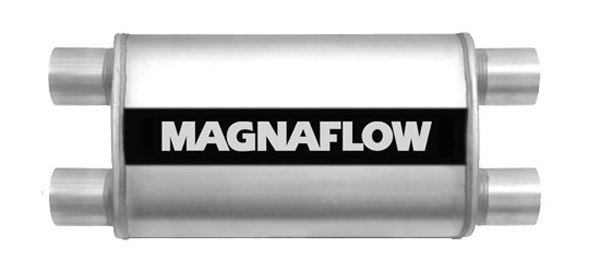 """2 2.5/"""" IN // 2 2.5/"""" OUT MagnaFlow 12568 22/"""" Bdy 28/"""" Lg SS Oval Muffler -"""