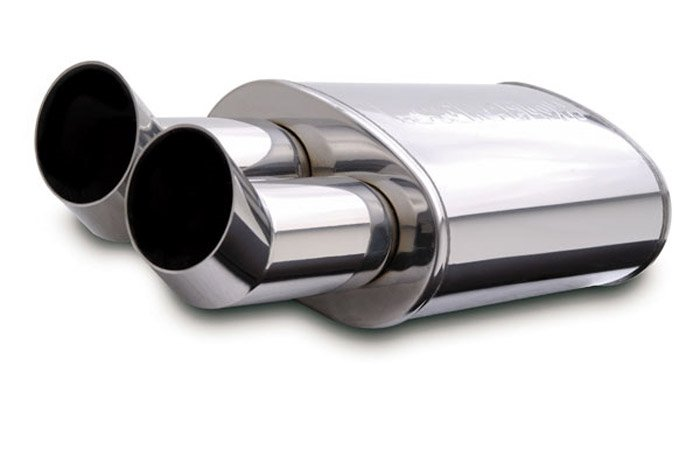 Ford Ranger Exhaust Tip >> MagnaFlow Polished Stainless Steel Street Series Muffler - Ships Free