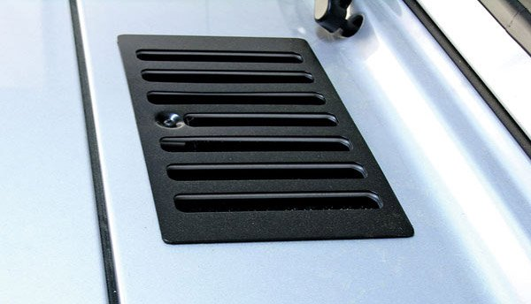 Garage Vent Cover : Rugged ridge hood vent cover