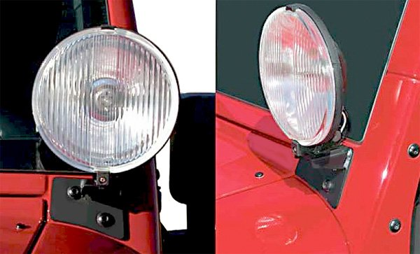 Rugged Ridge Windshield Hinge Light Brackets
