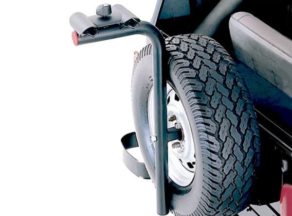 Rugged Ridge Lockable Spare Tire Mount Bike Carrier