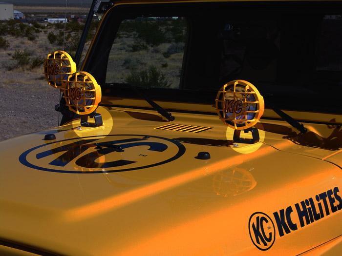 KC Hilites Jeep Hood Mount Light Brackets