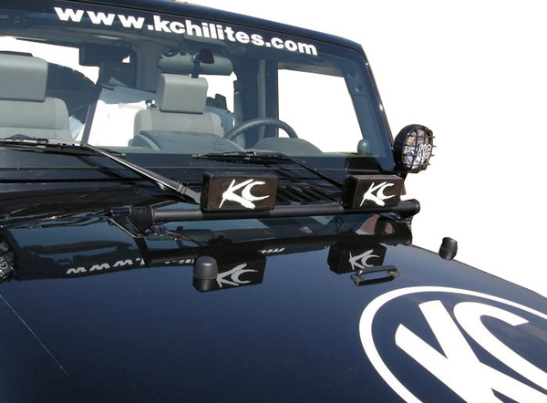 KC Hilites 2 Light Hood Mount Bar
