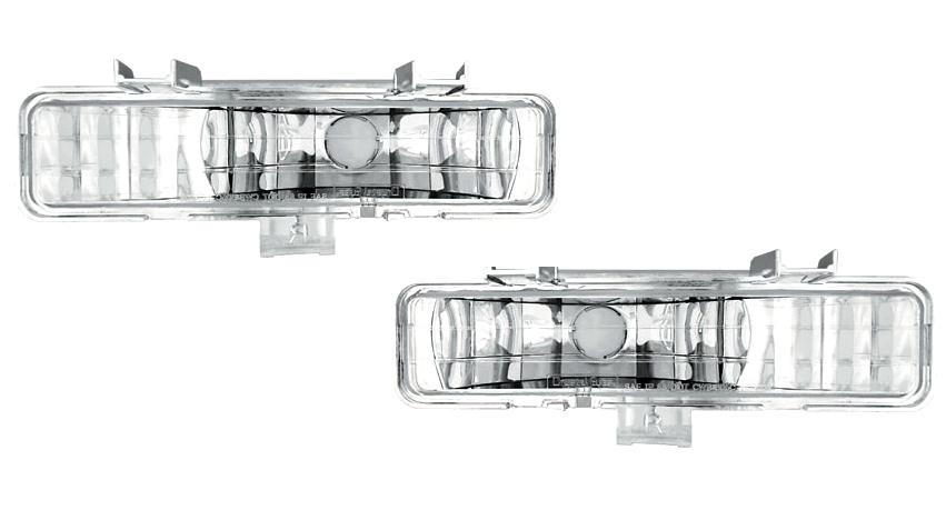 Pair IPCW CWB-2010 Clear Front Bumper Light