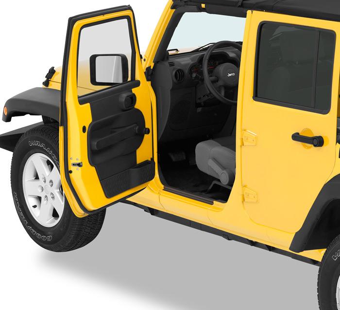 Mopar Jeep Accessories Wrangler: Bestop Front & Tailgate Entry Guards