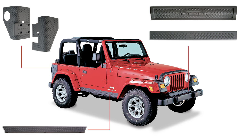 bushwacker jeep kits bushwacker jeep body kit. Black Bedroom Furniture Sets. Home Design Ideas