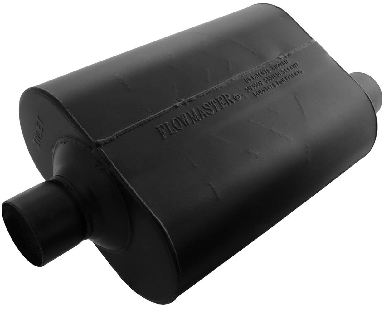 """Flowmaster Muffler Delta Flow Super 40 Series 3/"""" Inlet//3/"""" Outlet Steel 953049"""